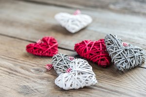 Handmade retro hearts