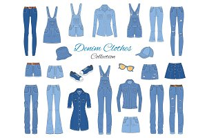 Denim clothes collection