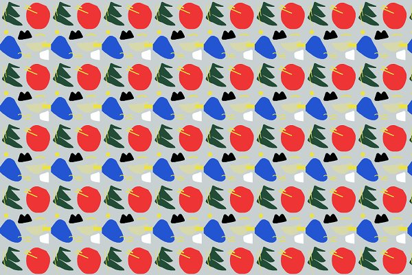Primary Chunker Pop Art Pattern