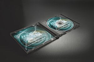 Music CD Cover Psd Template
