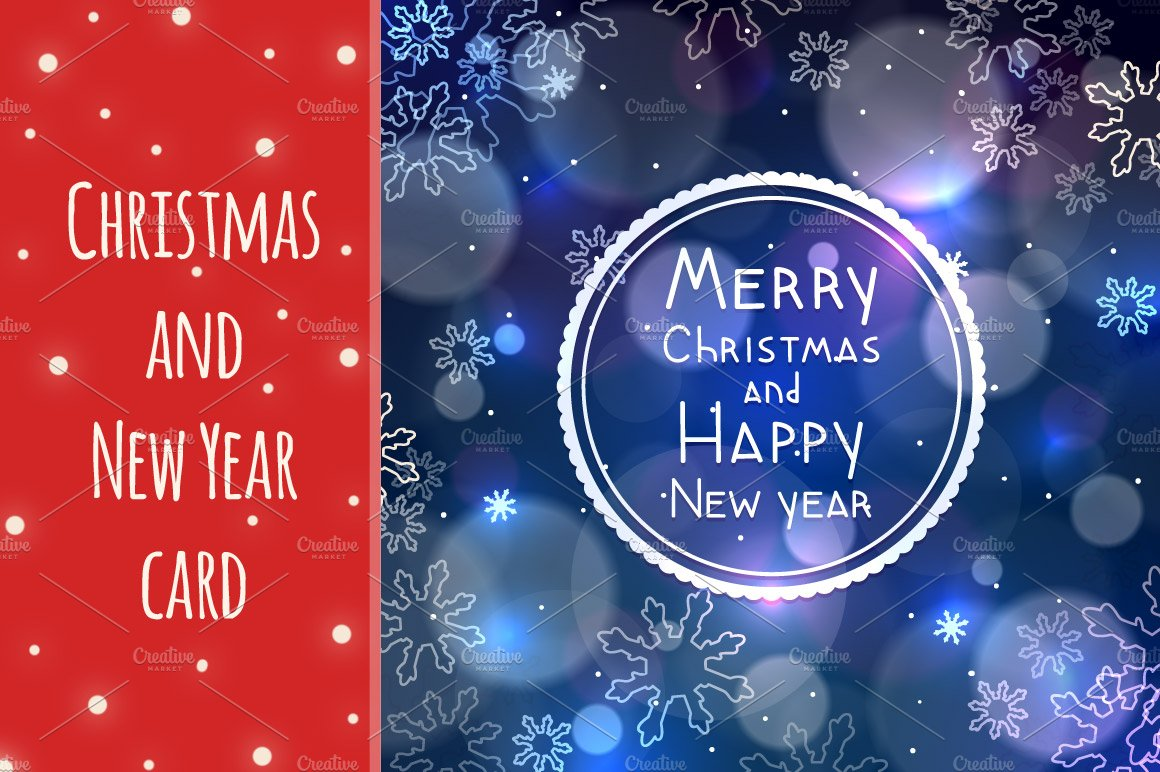 Christmas and new year greeting card card templates creative market kristyandbryce Images