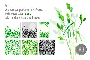 watercolor grass