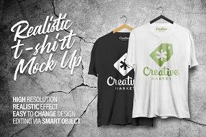Realistic T-Shirt Mock-Up