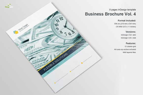 company profile 8 pages brochure templates creative market