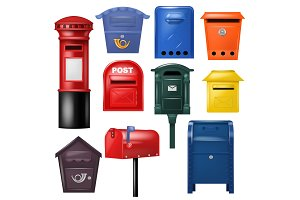 Mail box vector post mailbox postal
