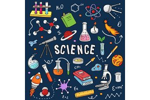 Chemistry vector chemical science or