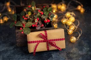 Christmas gift or present box