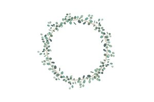 Elegant and cute wreath with silver