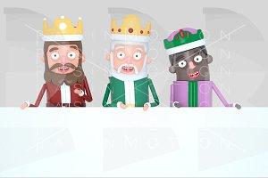 Magic Kings holding a Placard
