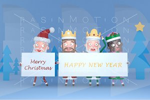 Santa & Tree Magic Kings placard