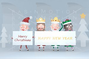 Magic Kings & Santa Claus holding