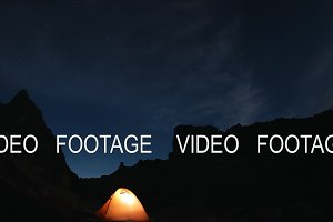 Timelapse of the night sky in the