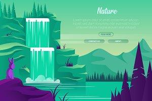 Nature - Vector Landscape & Building