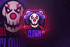 SKULL CLOWN - Mascot & Sports Logo