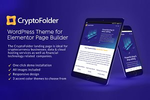 CryptoFolder Elementor Landing Page