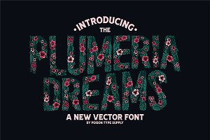 PLUMERIA (Vector Font) 30% OFF