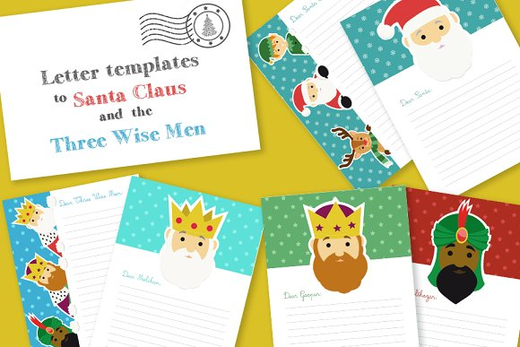 christmas letter templates pack stationery
