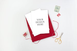 Holiday Card Mockup with Twine
