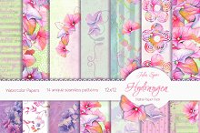 Floral Pattern /Paper Pack Hydrangea