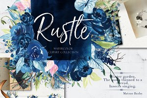 Rustle- Winter Watercolor Collection