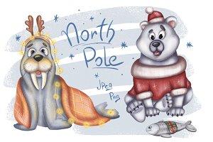 North Pole Christmas set (2 images)