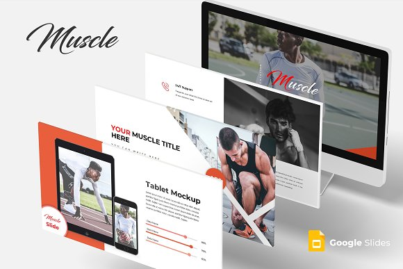 muscle google slides template presentation templates creative