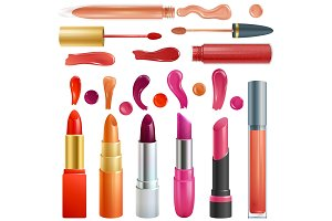 Lipstick vector beautiful red color