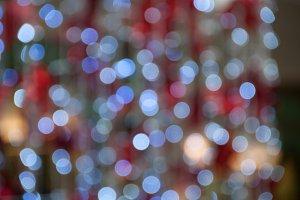 Bokeh Christmas lights background