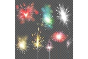 Sparkler vector sparkling