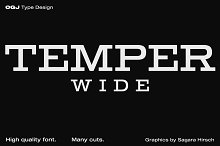 Temper Wide · Intro offer by  in Slab Serif Fonts