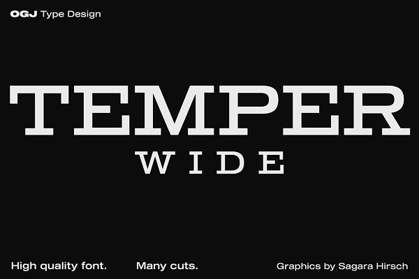 Slab Serif Fonts: ogj type design - Temper Wide · Intro offer