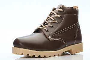 Brown leather color shoe