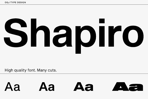 Fonts: ogj type design - Shapiro · Intro offer