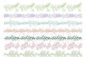 Floral Border Photoshop Brushes