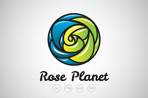 Rose Planet Logo Template