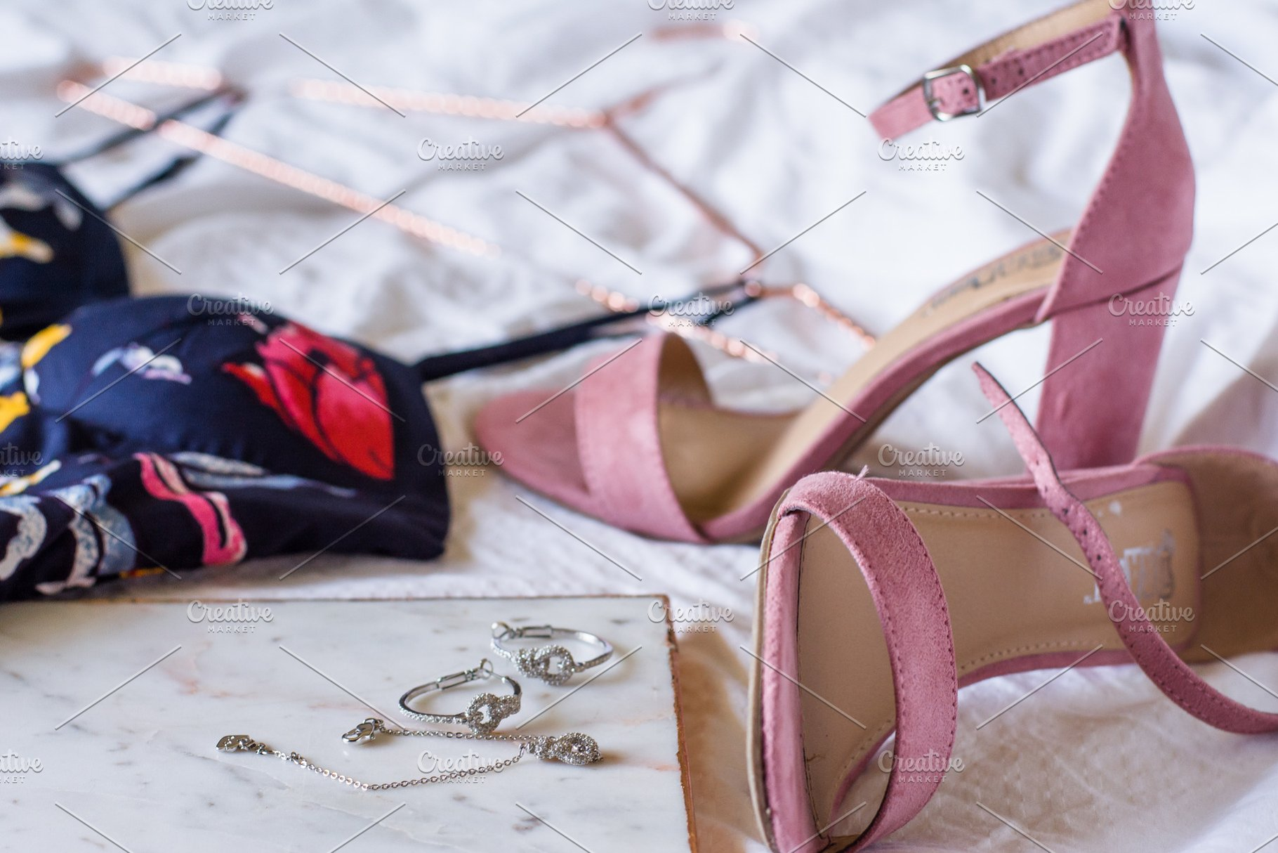 6f201ba9c93 Pink High Heels on Bed with Jewelry ~ Beauty & Fashion Photos ...