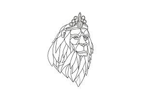 Lion Princess Wearing Tiara Mosaic B