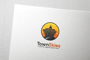 Town Skies Logo