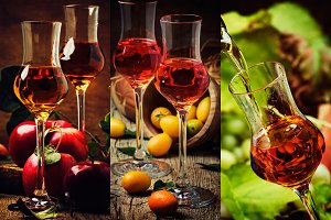 Strong alcoholic drinks, alcohol col