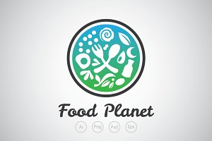 Food Planet Logo Template