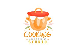 Cooking studio logo design, kitchen