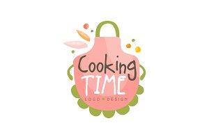 Cooking time logo design, kitchen