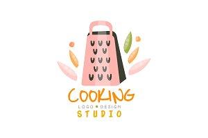 Cooking studio logo design, emblem