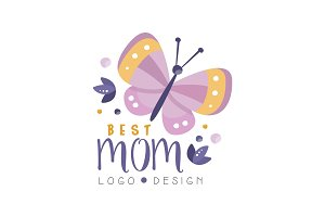 Best Mom logo design, Happy Mothers