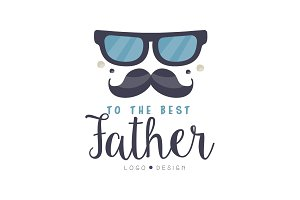 To the best Father logo design