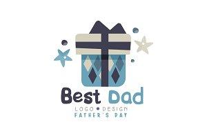 Best Dad logo design, Happy Fathers