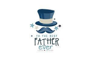 To the best Father ever logo design
