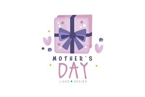 Mothers Day logo design, creative