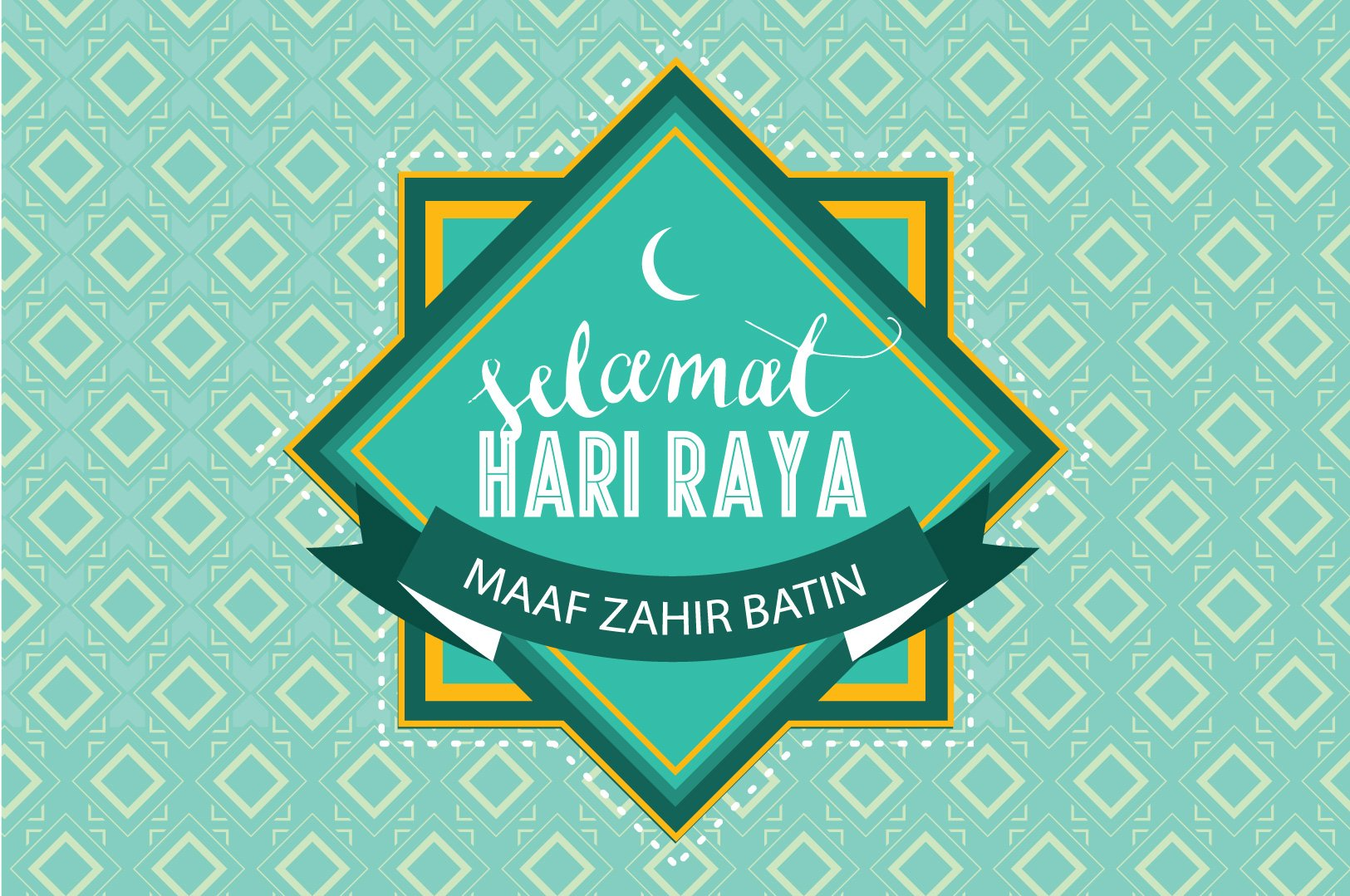 Hari raya greeting template vector illustrations creative market kristyandbryce Image collections
