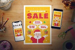 Christmas Sale Flyer Set